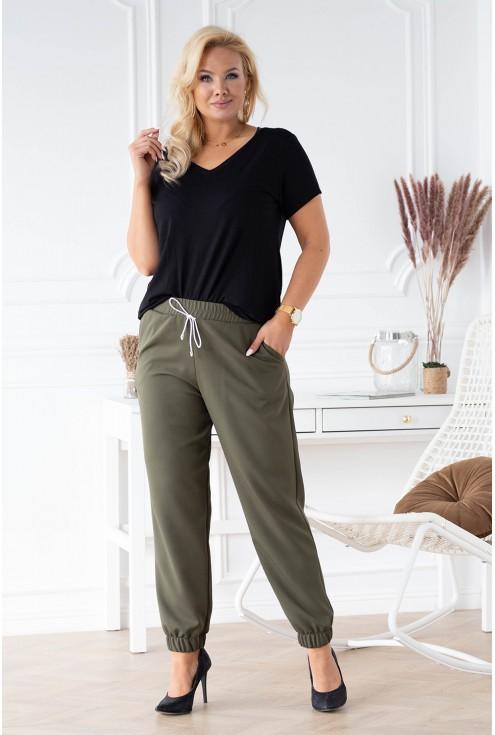 spodnie khaki plus size xxl
