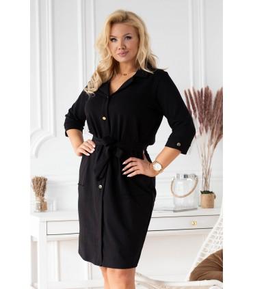 Czarna sukienka szmizjerka - KYLIE