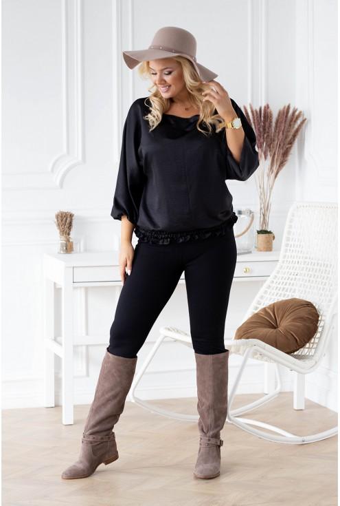 czarna elegancka bluzka plus size