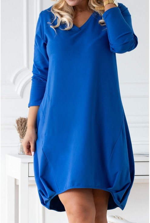 chabrowa sukienka z dekoltem v xxl