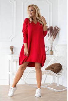 Czerwona sukienka dresowa Nathalie