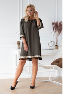 Sukienka hiszpanka w kolorze khaki