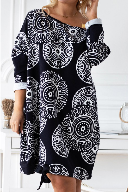 czarna tunika/sukienka xxl