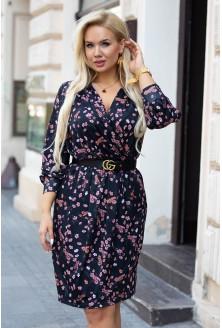czarna sukienka w kwiatki cilia xxl