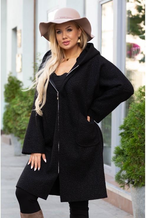 czarny płaszcz lindy xxl