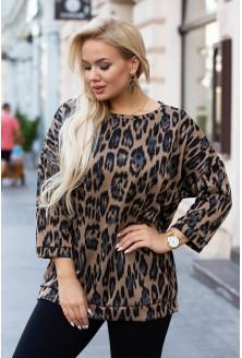 bluzka plus size wzór w panterkę