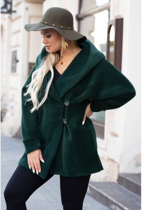 butelkowy płaszcz plus size