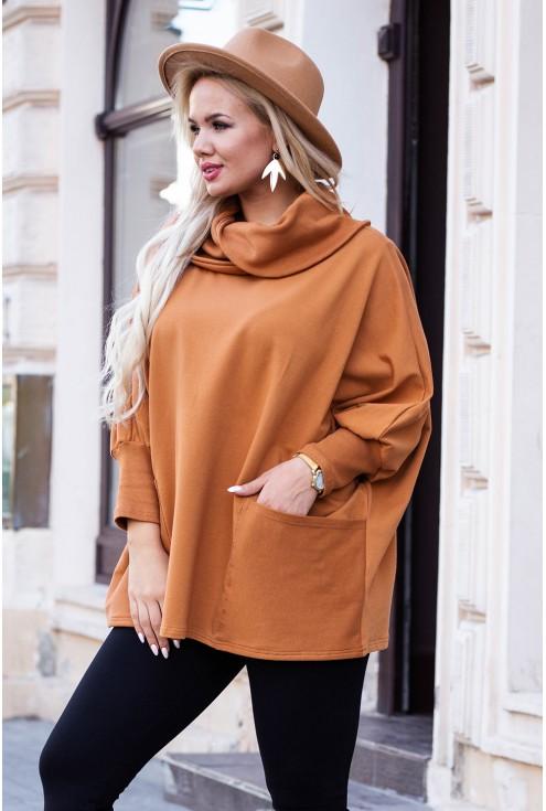 karmelowa bluza jesień xxl