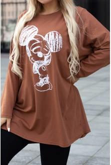 karmelowa bluzka mickey xxl