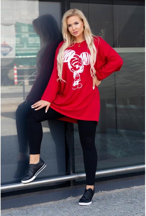 czerwona tunika mickey xxl