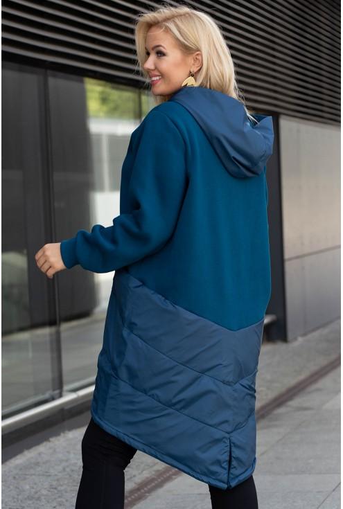 Morska zapinana kurtka/bluza z kapturem - GWEN