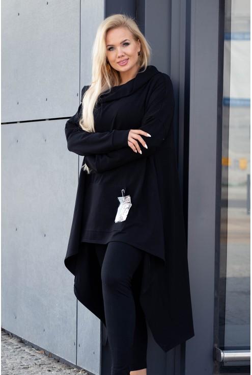 czarna długa bluza z kapturem sklep xlka