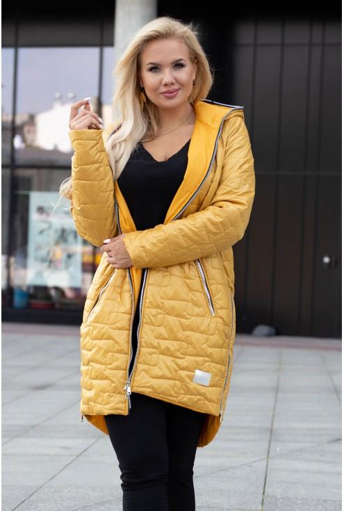 Miodowa pikowana kurtka Scarlett