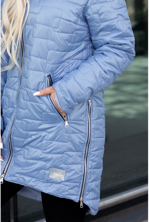 Długa kurtka z kieszeniami
