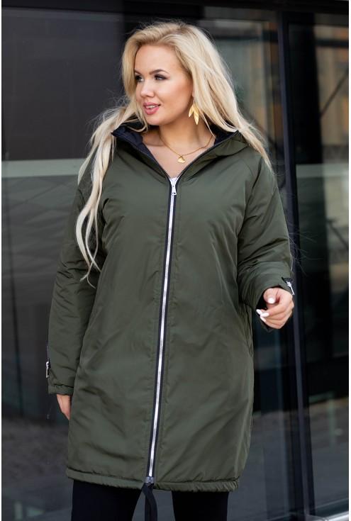 Oliwkowa pikowana kurta Stacy