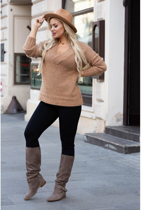 Sweter z drobnym splotem Kristin