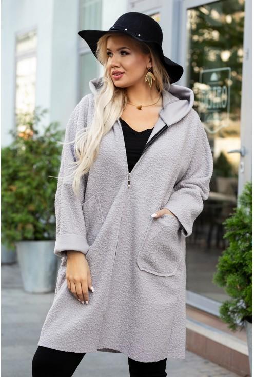 jasnoszary płaszcz xxl