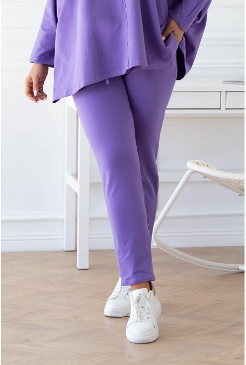 Liliowe spodnie Carrme zestaw