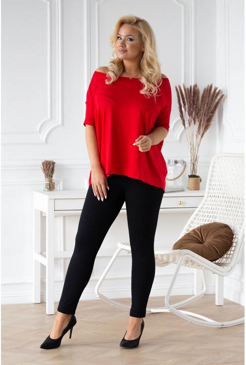 Czerwona bluzka dla kobiet plus size