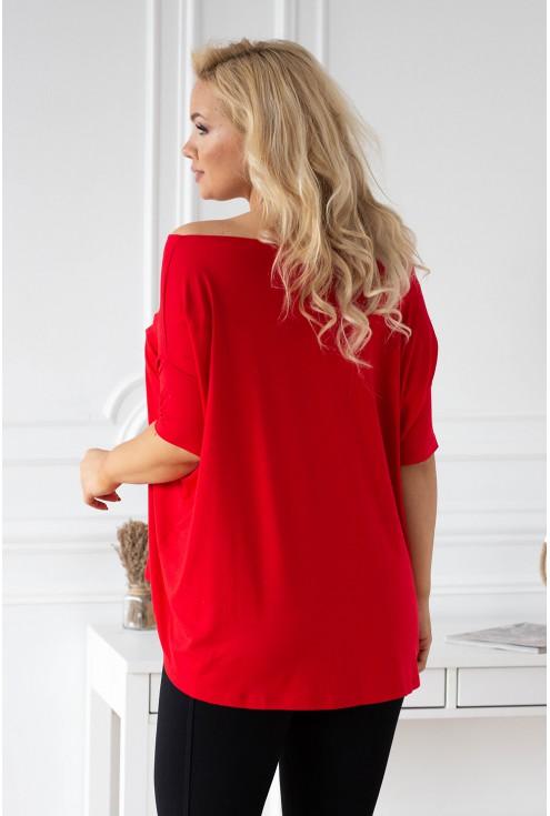 Czerwona bluzka Dagmara