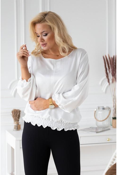Biała bluzka nietoperz Marielle