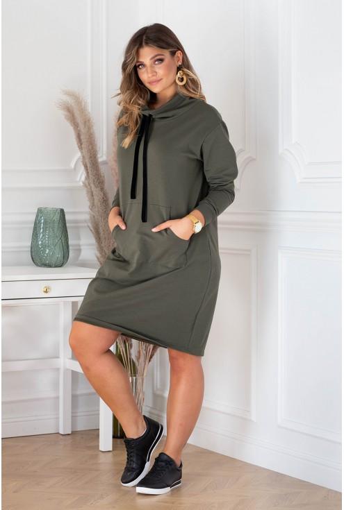 Tunika sukienka Natia w kolorze khaki