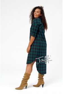Długa koszula- sukienka w kratę