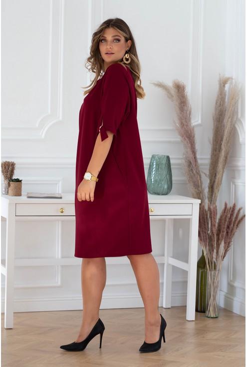 wiśniowa sukienka plus size