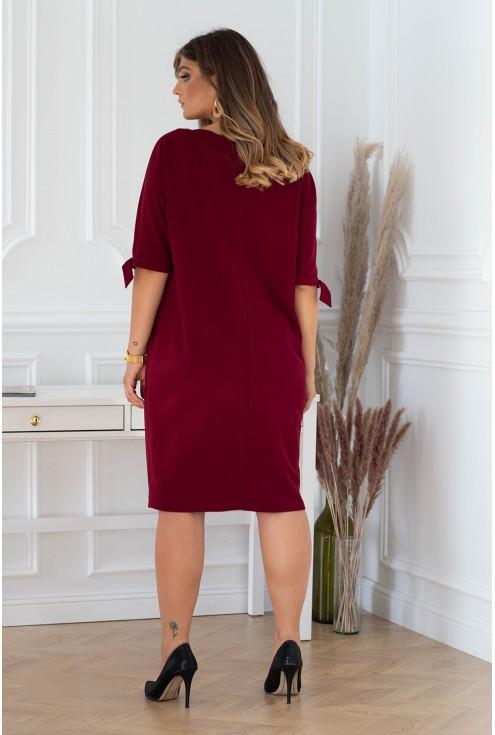 tył sukienki plus size