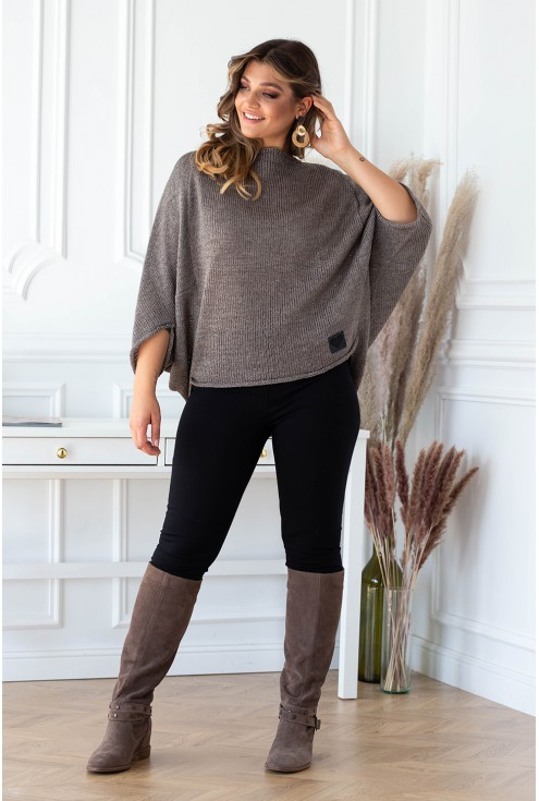 brązowy sweter xxl
