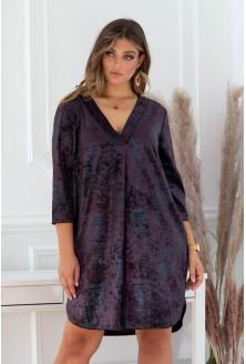 sukienka z dekoltem V - duże rozmiary