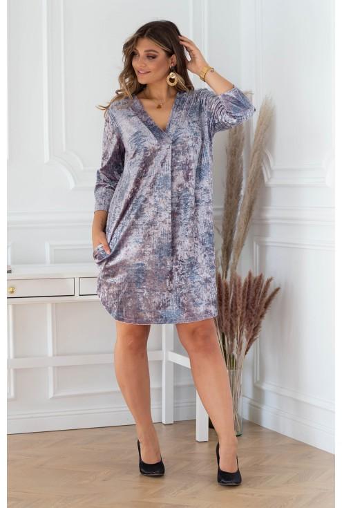 sukienka z dekoltem V plus size