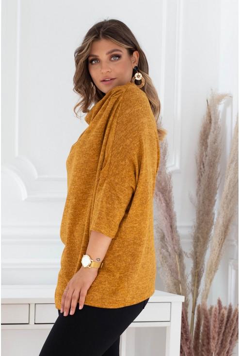 musztardowy sweterek jesienny sklep xlka