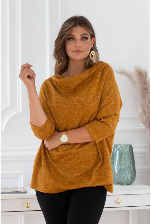musztardowy sweterek clarissa xxl