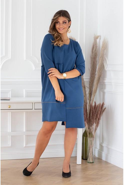 jeansowa sukienka plus size xxl