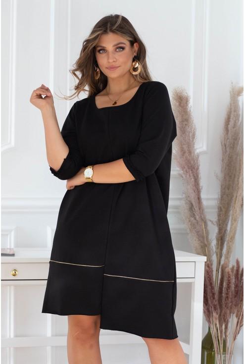 czarna rozkloszowana sukienka xxl