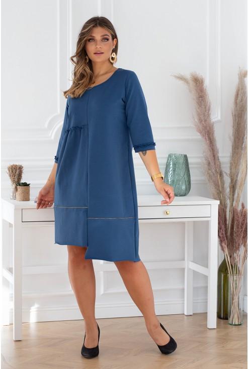 rozkloszowana sukienka jeansowa alexi jesień 2020