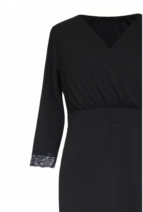 czarna sukienka z koronką - duże rozmiary