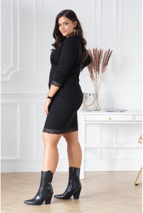 czarna sukienka size plus size