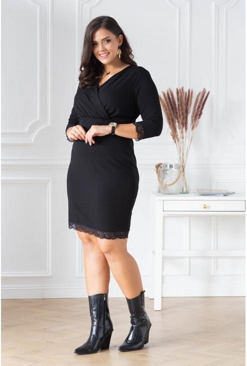 czarna sukienka size plus xxl