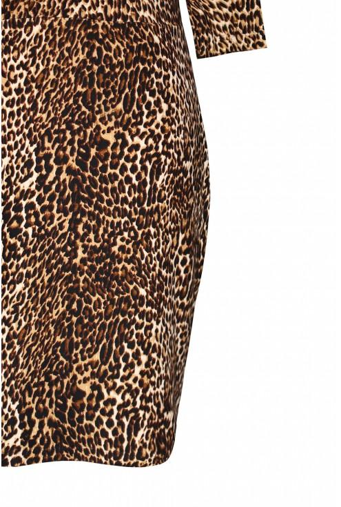 Sukienka z wzorem w panterkę duże rozmiary