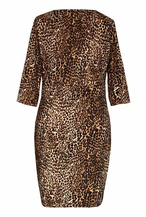 Sukienka z wzorem w panterkę tył
