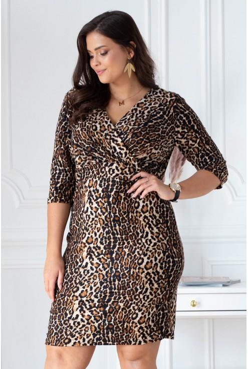 Sukienka z wzorem w panterkę - LISHA