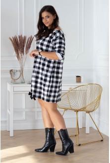 modna sukienka w kratkę xxl
