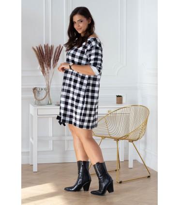 Czarno-biała sukienka w kratkę - ZIZISS