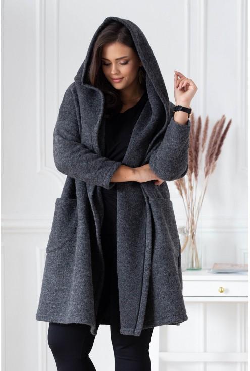 ciepły wełniany płaszcz xxl