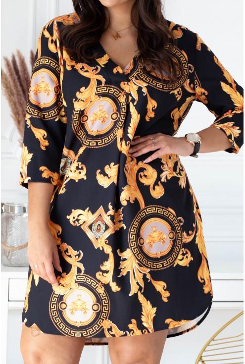 złota sukienka chiara plus size xxl