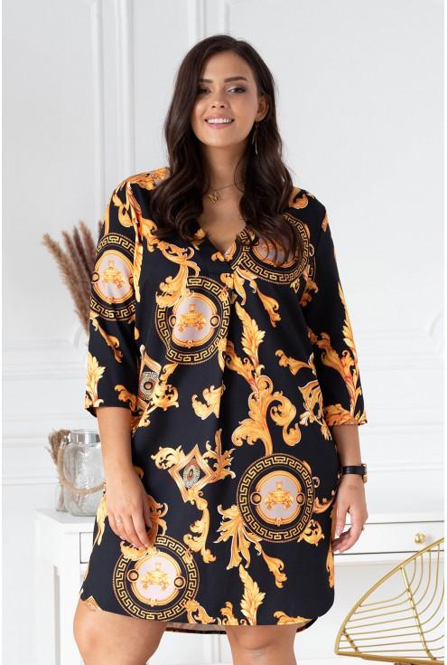 złota sukienka chiara size plus xxl