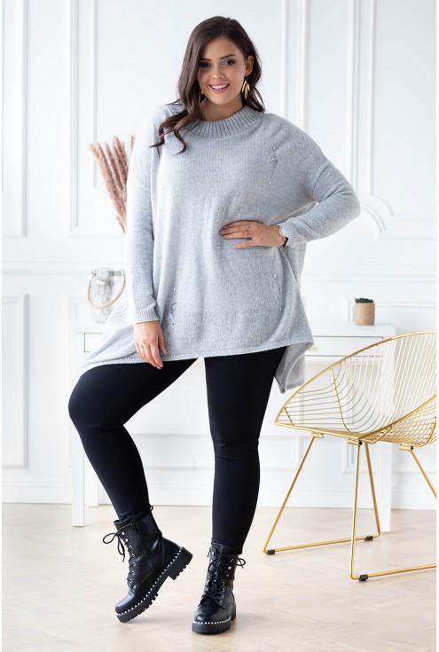 jasnoszary sweterek xxl