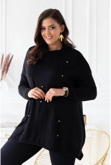 czarny sweterek plus size xxl